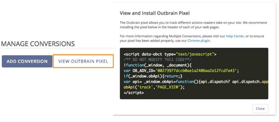 View Outbrain Pixel